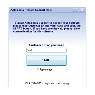 Antamedia Remote Control Software Screenshot