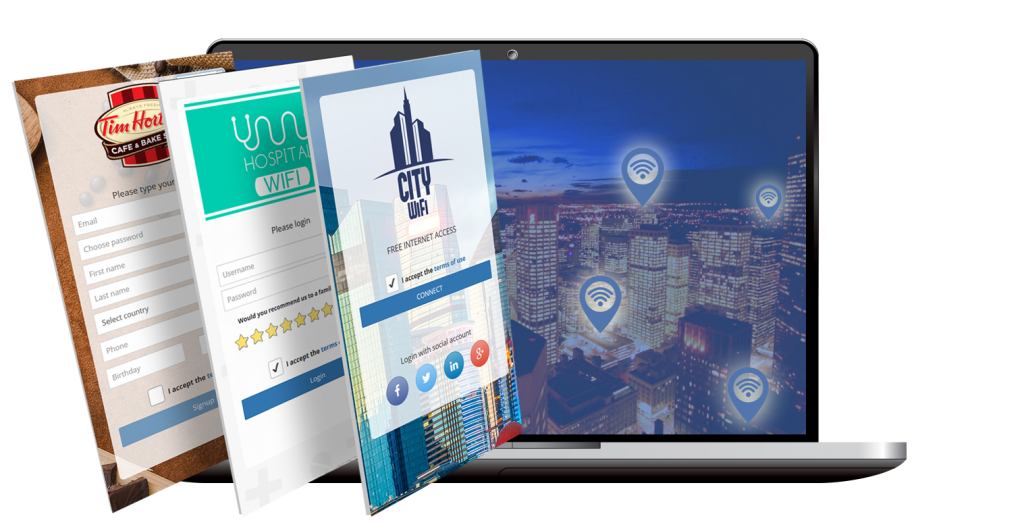 HotSpot WiFi Locations - configure different login pages: free, paid