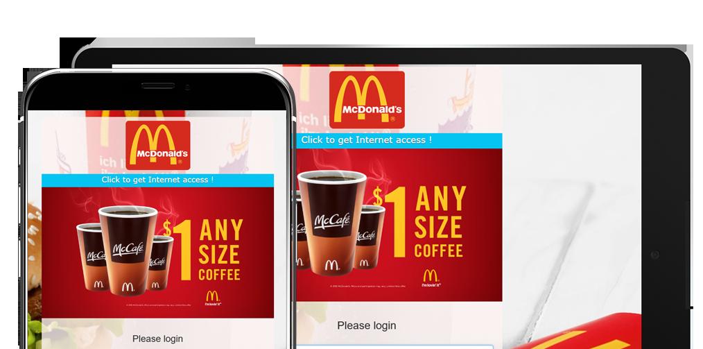 HotSpot WiFi Ads on Login page