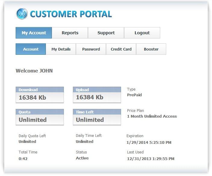 HotSpot Customer Portal