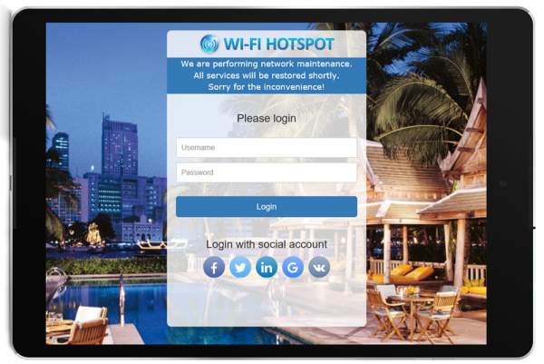 HotSpot WiFi Announcement