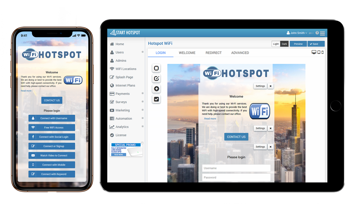 Start Hotspot Cloud WiFi